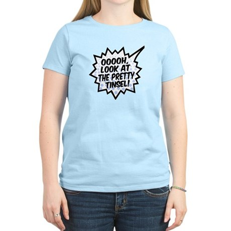 'Ooooh, Pretty Tinsel!' Women's Light T-Shirt
