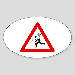 Attention Waiters, Austria Oval Sticker
