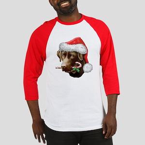 Chocolate Lab Christmas Baseball Jersey