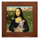 Mona Lisa / Greyhound #1 Framed Tile