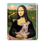 Mona Lisa / Greyhound #1 Mousepad