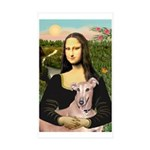 Mona Lisa / Greyhound #1 Sticker (Rectangle 10 pk)