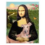 Mona Lisa / Greyhound #1 Small Poster