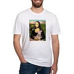 Mona Lisa / Greyhound #1 Fitted T-Shirt