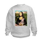 Mona Lisa / Greyhound #1 Kids Sweatshirt