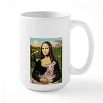 Mona Lisa / Greyhound #1 Large Mug