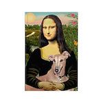 Mona Lisa / Greyhound #1 Rectangle Magnet (10 pack