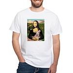 Mona Lisa / Greyhound #1 White T-Shirt