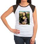 Mona Lisa / Greyhound #1 Women's Cap Sleeve T-Shir