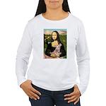 Mona Lisa / Greyhound #1 Women's Long Sleeve T-Shi