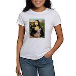 Mona Lisa / Greyhound #1 Women's T-Shirt