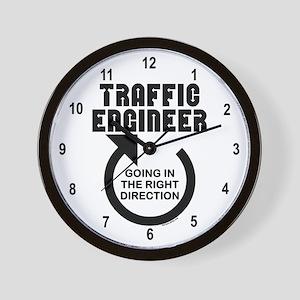 Traffic Engineer Direction Wall Clock