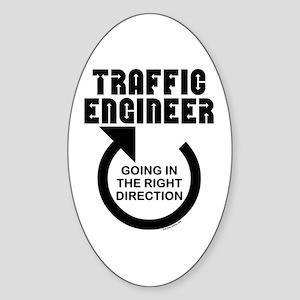 Traffic Engineer Direction Oval Sticker