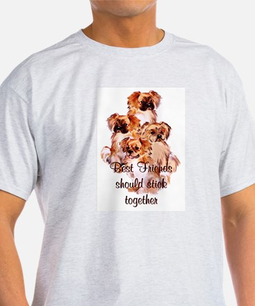 Tibetan Spaniel friends Ash Grey T-Shirt