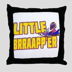 Little Brraapp'er Throw Pillow