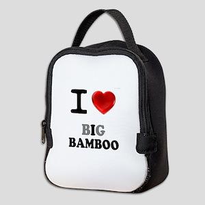 I LOVE - BIG BAMBOO:- Neoprene Lunch Bag