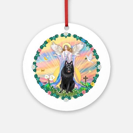 Blessing / Schipperke Ornament (Round)