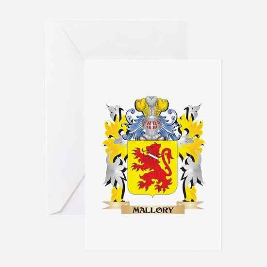 Mallory Coat of Arms - Family Crest Greeting Cards