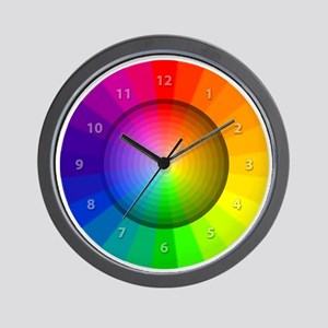 color wheel shades Wall Clock