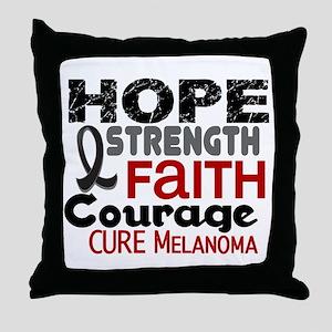 HOPE Melanoma 3 Throw Pillow