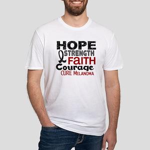 HOPE Melanoma 3 Fitted T-Shirt