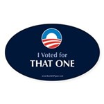 """""""That One"""" Oval Sticker (10 pk)"""