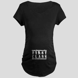 First Class Mail Maternity Dark T-Shirt