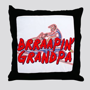 Brraapin' Grandpa Throw Pillow