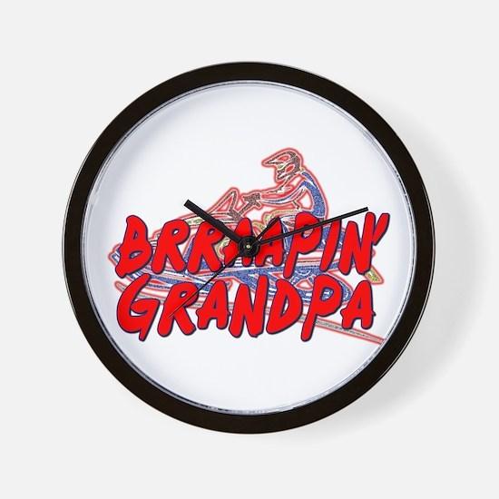 Brraapin' Grandpa Wall Clock