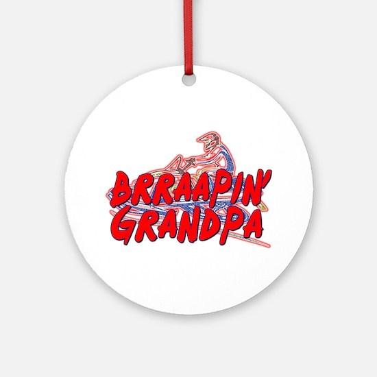 Brraapin' Grandpa Ornament (Round)
