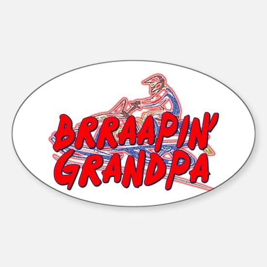 Brraapin' Grandpa Oval Decal