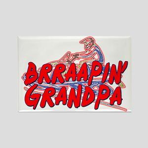 Brraapin' Grandpa Rectangle Magnet