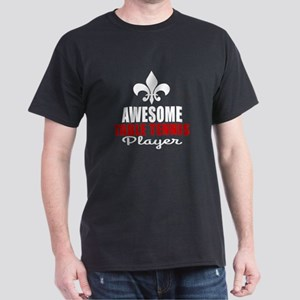 Awesome Table Tennis Player Dark T-Shirt