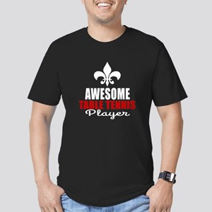 Awesome Table Tennis P Men's Fitted T-Shirt (dark)