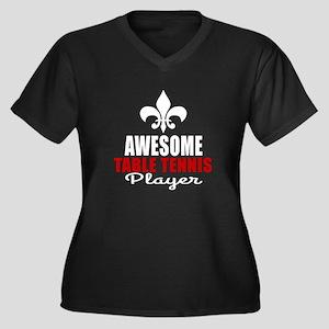 Awesome Tabl Women's Plus Size V-Neck Dark T-Shirt