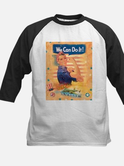 Rosie the Riveter Kids Baseball Jersey