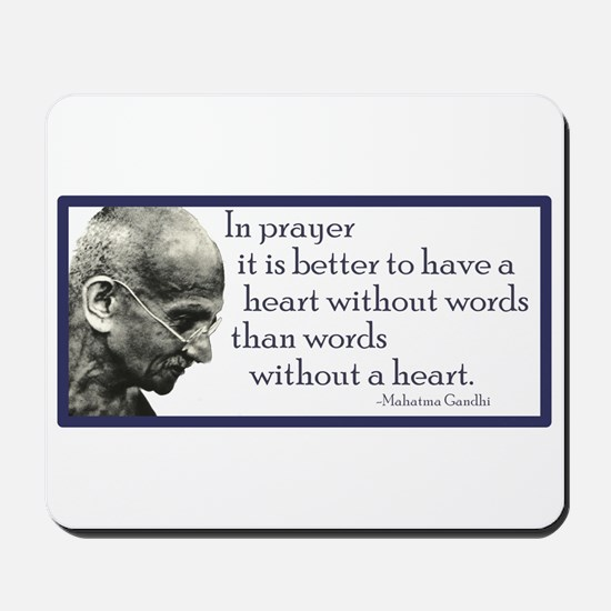 Gandhi - ...it is better to h Mousepad
