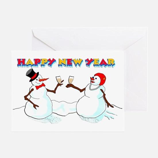 Snowman Cheers Greeting Card
