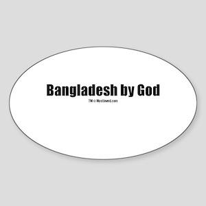 Bangladesh by God (TM) Oval Sticker