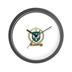 THEBEAU Family Crest Wall Clock