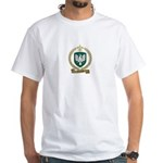 THEBEAU Family Crest White T-Shirt