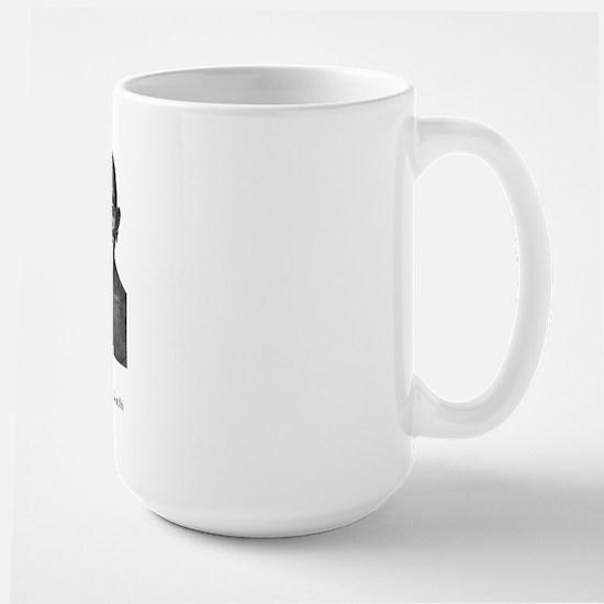 Gandhi quote - Intolerance is Large Mug