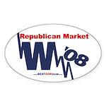 """Republican Market"" Oval Sticker"