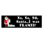 Santa I Was FRAMED! Bumper Sticker (50 pk)