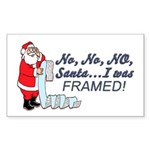 Santa I Was FRAMED! Rectangle Sticker 10 pk)