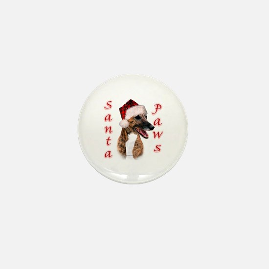 Brindle Santa Paws Mini Button