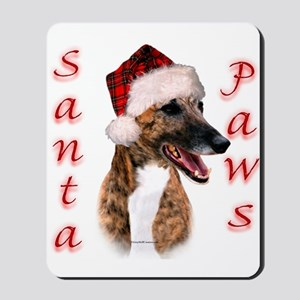 Brindle Santa Paws Mousepad