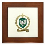 THEBAU Family Crest Framed Tile