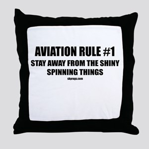 AVIATION RULE #1 Throw Pillow