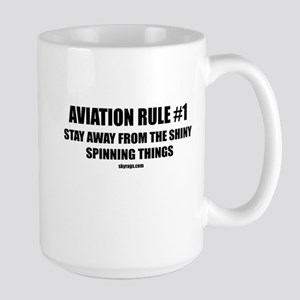 AVIATION RULE #1 Large Mug